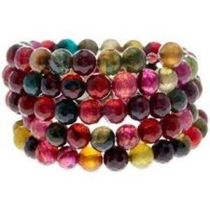 SAVVY CIE Agate Coil Wrap Bracelet